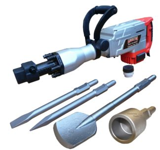 Augerton 1700w Jack Hammer with 2 Chisel, Clay Spade and Star Picket Driver