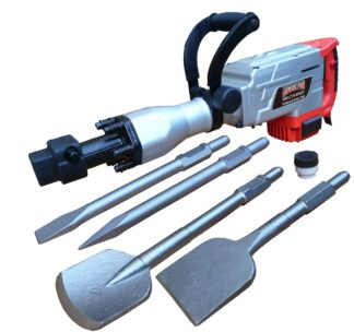 Augerton 1700w Jack Hammer with 2 Chisels & Clay Spade & Tile Chipper
