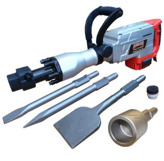 Augerton 1700w Jack Hammer with 2 chisels, Tile Chipper and Star Picket Driver