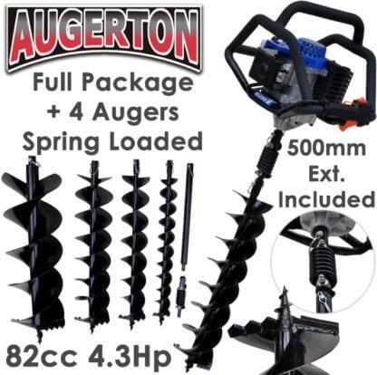 Augerton 82cc Hole Digger & 4 Auger Package