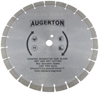 "AUGERTON 14"" (350mm) Segmented Diamond Tip Concrete Demoliton Saw Blade"