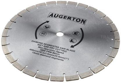 "Augerton 16"" (400m) Segemented Diamond Tip Concrete Demoliton Saw Blade"