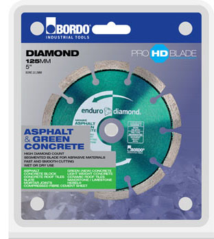 "BORDO 14"" (350mm) Enduro Green Concrete Segmented Diamond Tip Concrete Demoliton Saw Blade"